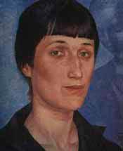 Анна Андреевна Ахматова.Портрет 1922 года. Автор Кузьма Петров-Водкин.